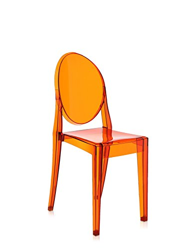 Kartell Victoria Ghost, Orange, Emballage 2 Eléments, Polycarbonate transparent ou teintè dans la masse, Arancione