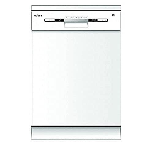 Edesa | Lavavajillas de Libre Instalación | Modelo EDW-6230 WH | Ancho de 60 cm | 7 programas | 49 dB de Potencia Acústica | Eficiencia Energética E