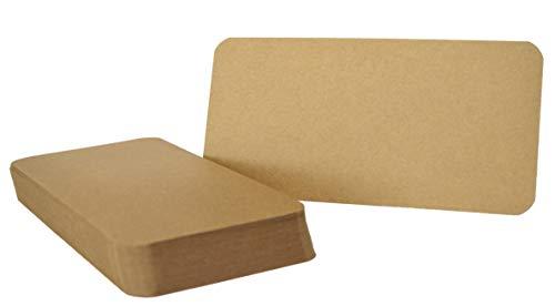 25er Pack Kraftpapier Kraftkarton DIN lang Karte 300g/m² Bastelkarton braun runde Ecken