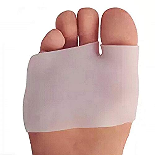 Protección para los pies contra callosidades silicona médica separador anti rozaduras cubiertas para los dedos de los pies gel para aliviar el dolor paquete de 2 piezas blanco