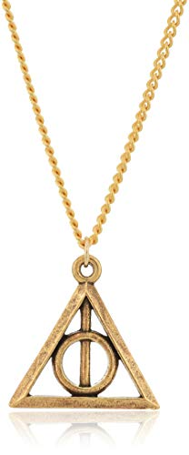 Alex and Ani Replenishment 19 Women's Deathly Hallows 24 in Expandable Necklace, Rafaelian Gold