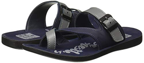 Walkaroo Boys Faux Leather Navy Blue Outdoor Sandals - 5 UK (W21126)