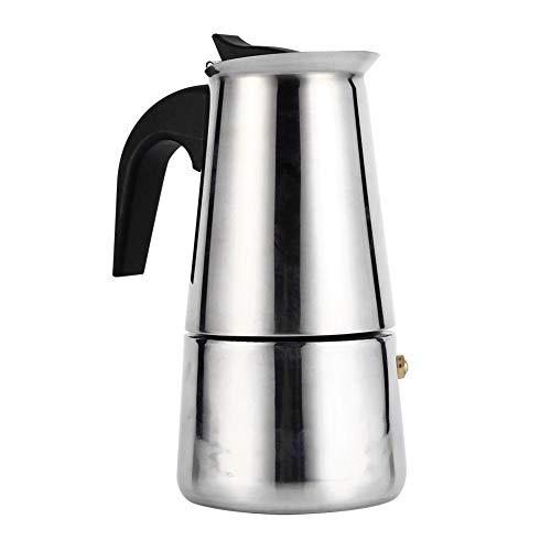 Espressokocher, Edelstahl Espresso Maker Kaffeekocher Kaffeekocher 4 verschiedene Größen Mokkakocher für Induktions-Herde geeignet (200ml)