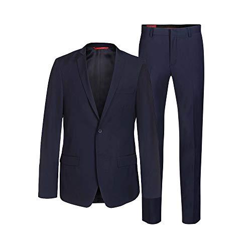 Thomas Goodwin ® Anzug Herren 2-Teilig (Slim Fit) 3 Farben (Perfekte Passform + Geprüfte Qualität + EU Größen) (dunkelblau, 46)