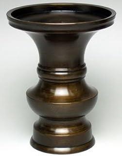 京仏壇はやし 仏具 花立 色付 4寸 真鍮製 ※各ご宗派でお使いいただけます