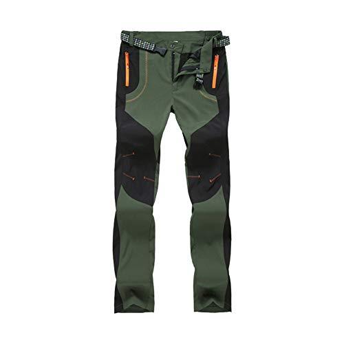 LY4U Pantalones de Senderismo al Aire Libre para Mujer Pantalones de Escalada para Caminar de Secado rápido, Ligeros y Gruesos, Resistentes al Agua, con Bolsillos con Cremallera
