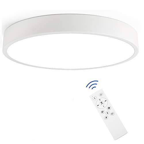 Hansiro LED Deckenlampe mit Fernbedienung | 20 W dimmbare Deckenleuchte | 30 cm Ø Deckenbeleuchtung für Kinderzimmer Wohnzimmer Schlafzimmer | Weiß