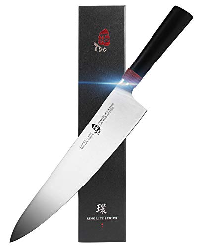 TUO Chef Knife 9.5 inch - Kitchen Sharp Cooking Knives Professional Japanese Gyuto Knives for Vegetables Fruits and Meat - AUS-8 Stainless Steel with Pakkawood Handle - Ring Lite Series with Gift Box