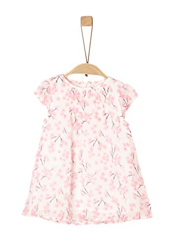 s.Oliver RED LABEL Unisex - Baby chiffon jurk met allover print 92 Cream Aop