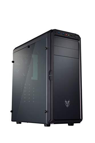 FSP POC0000032 Fortron CMT120A PC Gehäuse, 6 Lüfter Werden unterstützt, 7X Erweiterungsslots, 2 x optische Laufwerke, 2 x HDD und 1 x SSD Einbuchtungen, CPU-Kühlerhöhe bis 160 mm, Schwarz