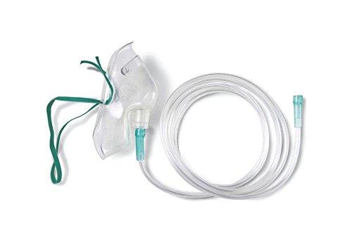 Medline HCS4600 MASK, Oxygen, MED. CONCEN, Adult, 7' TUB (Case of 50)