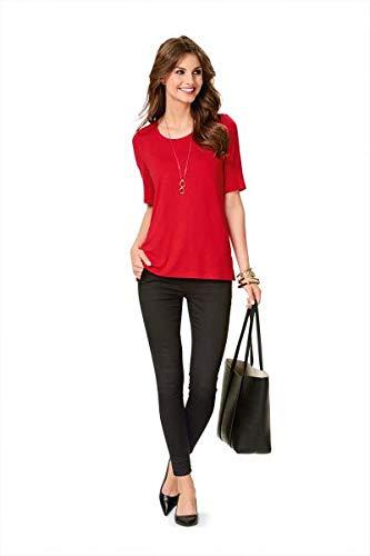 Burda 6611 Schnittmuster Shirt runder Ausschnitt V-Ausschnitt (Damen, Gr. 36-50)