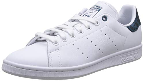adidas Damen Stan Smith W Gymnastikschuhe, Weiß (FTWR White/Tech Mineral/Core Black FTWR White/Tech Mineral/Core Black), 40 2/3 EU