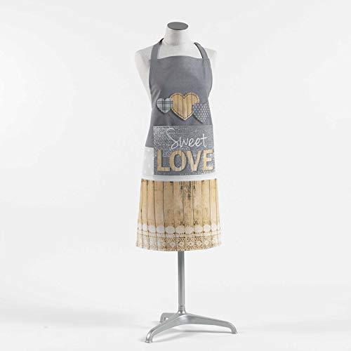 Douceur d'Intérieur Hearty schort + tas, meerkleurig, 60 x 84 cm