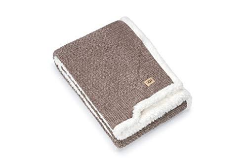 """UGG - Peyton Throw Blanket - Reversible Sherpa Blanket - 50"""" x 70"""" - Stormy"""