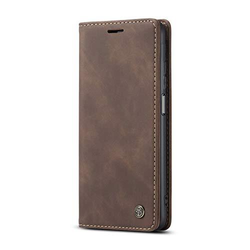JMstore hülle kompatibel mit Xiaomi Mi 10T/Mi 10T Pro/Redmi K30s, Leder Flip Schutzhülle Brieftasche Handyhülle mit Kreditkarten Standfunktion (Kaffee)