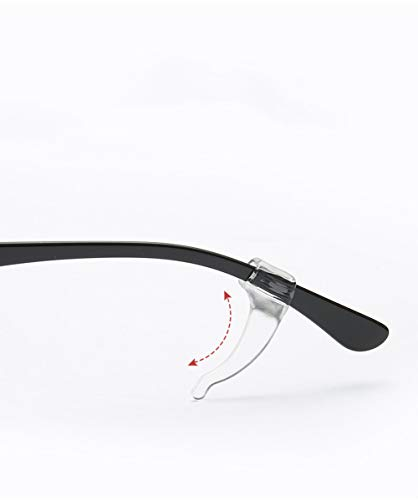 KICCOLY Antirutsch Halterung für Brillenbügel Set - 2 Paare Ohrbügel Silikon Haken für Brille - Silikon Antirutsch Überzüge für Brillen Sonnenbrillen(transparent)