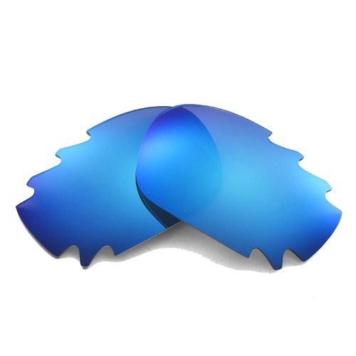 Walleva Ersatz belüftete Linsen für Oakley Jawbone Sonnenbrille - Mehrfache Optionen (Eisblau - Polarisiert)