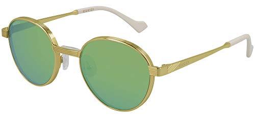 Gucci Gafas de Sol GG0872S Gold/Green 51/21/145 hombre