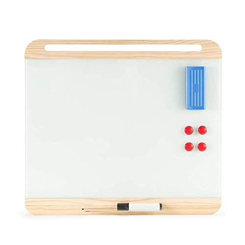 LFK Pizarra blanca magnética de cristal templado para escritorio de oficina, reunión,...