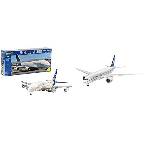 Revell Airbus A380 New Livery, Kit De Modelo, Escala 1:144 (4218) (04218) + Maqueta Avión, 10+ Años (04261)