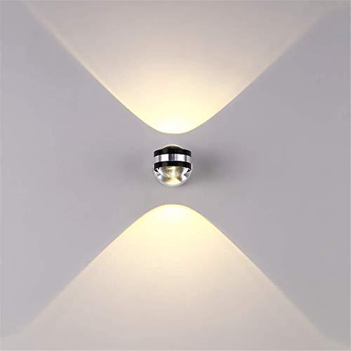 Louvra 6W LED Lampada da Parete Interno Moderno Applique da Parete in Alluminio per Camera da Letto Salotto Corridoio Bianco Caldo Forma Sfera