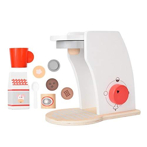 JZYLOVE JINZHIYANG Simulación de Madera Cocina Coffaker Toy Pretend Play Kitchen Coffee Making Máquina Juego Educativo Juguete