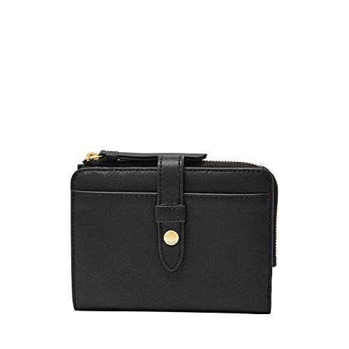 Fossil Women's Fiona Leather Multifunction Wallet, Black