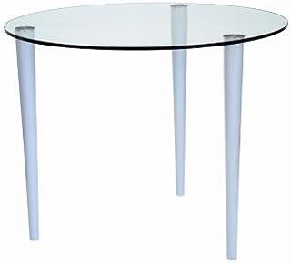 futureglass Table en verre transparent 900 mm de diamètre.