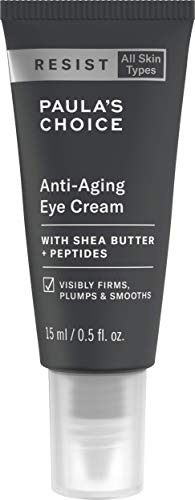 Paula's Choice Resist Anti Aging Augencreme - Reichhaltige Creme Reduziert Falten & Pflegt die Haut - mit Shea Butter & Peptide - Alle Hauttypen - 15 ml