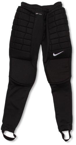 Nike Jungen Hose Padded Goalie Torwart, Black/White, XS, 481444-010
