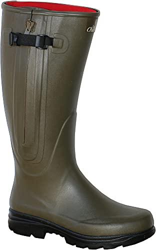 La Chasse Neoprene-Gummistiefel mit Reißverschluss für Damen und Herren absolut wasserdicht Jagdgummistiefel Winter Gummistiefel für Jäger Neoprenestiefel gefüttert (43 EU, Oliv (grün))