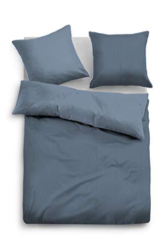 TOM TAILOR 0069940 Bettwäsche Garnitur mit Kopfkissenbezug Baumwoll-Satin Fine Stripes 1x 135x200 cm + 1x 80x80 cm jeans