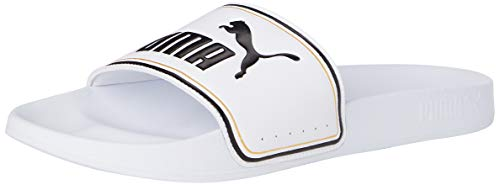 Puma Leadcat FTR, Scarpe da Spiaggia e Piscina Unisex-Adulto, Bianco White Team Gold Black, 46 EU
