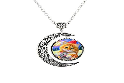 Art Charm - Collar con diseño de gato para niños