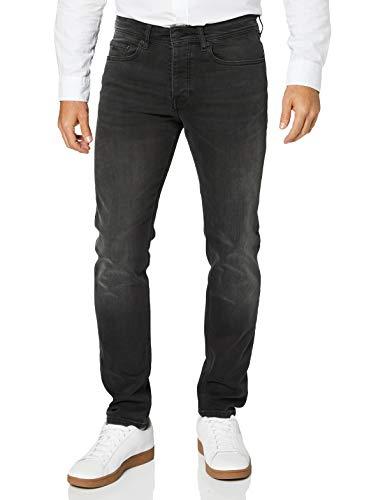 BOSS Herren Taber BC-P Tapered-Fit Jeans aus gewaschenem Super-Stretch-Denim
