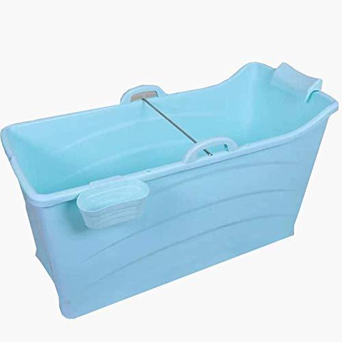 Fashio Bañera Independiente portátil Baño Plegable Bañera de hidromasaje Bañera de hidromasaje Cubo de baño for Adultos Tiempo de Aislamiento Largo 120x52x68cm
