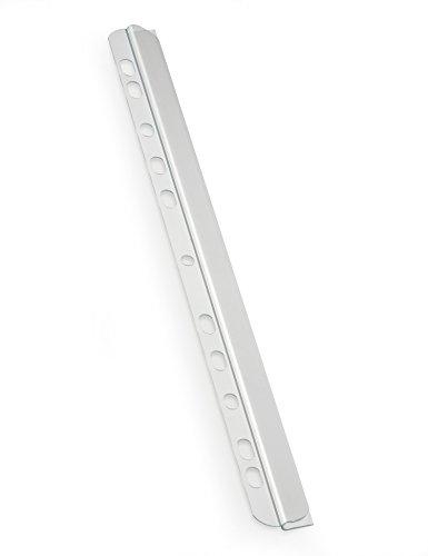 Durable 292919 Klemmschiene mit Abheftleiste, für circa 30 Blatt A4, Packung à 8 Stück, transparent