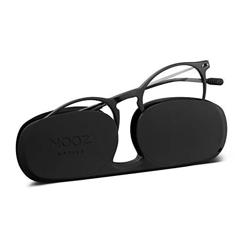 Nooz Optics - Blaulichtfilter brille ohne sehstärke Damen und Herren für Bildschirm, Smartphone, Gaming oder Fernsehen - Runde Form - Schwarze Farbe - Cruz Collection