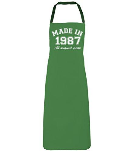 'fabriqué en 1987' Vert émeraude d'anniversaire 30 ans Tablier