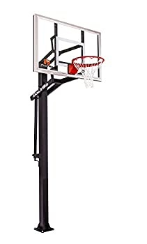 Goalrilla GS54 In Ground Basketball Hoop with Adjustable Height Backboard and Pro-Style Breakaway Rim