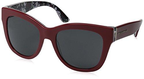 Dolce & Gabbana Unisex DG4270 Sonnenbrille, Rot (Red 302087), One size (Herstellergröße: 55)