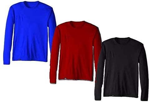 KIT 3 Camisetas Proteção Solar Permanente UV50+ Tecido Gelado – Slim Fitness – GG Preto - Royal - Vinho