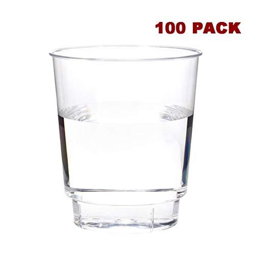 Wegwerp Cold Drink Party Cups 100 Wegwerp Bekers Hard Plastic Cup Business Luchtvaart Cup Transparant Beker Dikke Wegwerp Bier Cup Party Cup voor Pantry Home Party Bruiloft (6.8 Oz) Bulk Party Bekers