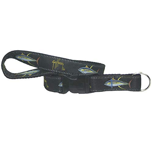 Guy Harvey Nylon Detachable Key Chain Lanyards (Black Tuna)