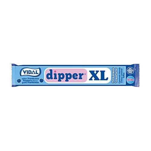 Vidal Dipper XL, Caramelo Masticable (Frambuesa) - 100 unidades
