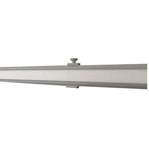 Garduna 60cm Aluminium Paneelwagen/Schiebewagen inkl. Beschwerung # Silber # für Flächenvorhänge/Schiebegardinen