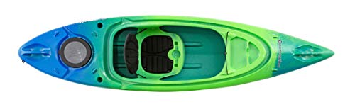Perception Kayaks Flash 9.5 | Sit Inside Kayak for Fishing and Fun | Two Rod Holders | Multi-Function Dash | 9' 6' | Blaze (9331900189)