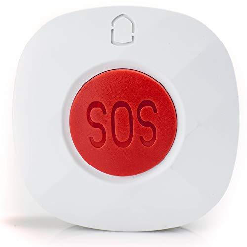 Brazalete de emergencia resistente al agua aparato telef/ónico para personas mayores llamada de emergencia bot/ón de alarma incluso clip y collar disty pulsera de emergencia NEO para la casa