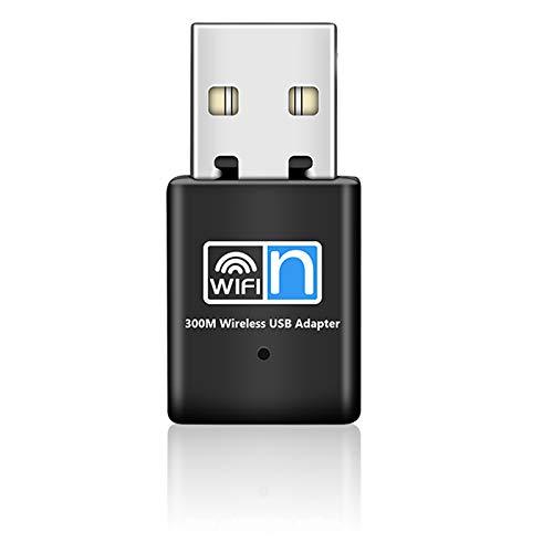 WiFi Adapter USB WLAN Stick 300Mbit/s Mini Größe Adapter Netzwerk Dongles Kompatibel für Raspberry Pi Laptop/Desktop/PC,Unterstützung Win 10/8/8.1/7/Vista/XP /2000, Mac OS X 10.6-10.14, Linux